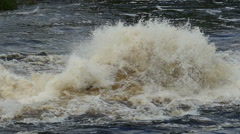 bursts and splashes of a seething water, slomo - stock footage