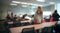 Back to School concept with Students Entering into a Classroom Stock Footage