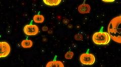 Halloween Pumpkins 4K Vj Loop 16 Stock Footage