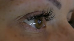 Woman Is Looking At Monitor, Tired Eye Stock Footage