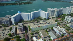 West Avenue Miami Beach aerial footage 4 Stock Footage