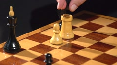 Chess. conversion pawn queen Stock Footage