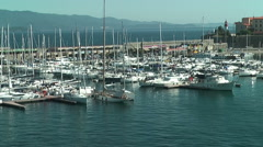 Yachts in port of Ajaccio Stock Footage