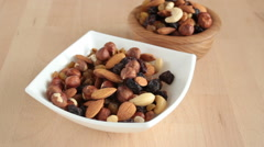 Nuts in vase. Stock Footage