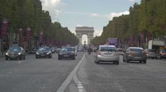 Paris Arc of Triumph - background Stock Footage