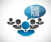 Stock Illustration of game plan sign concept illustration design graphic