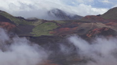 Haleakala Crater closeup, Maui, Hawaii (pan) - stock footage