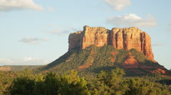 Courthouse Butte sunset, Sedona, Arizona - stock footage