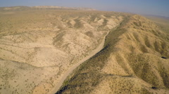 Aerial over the San Andreas fault in California. Stock Footage