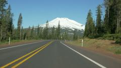 Mt Bachelor driving time lapse, near Bend, Oregon Stock Footage