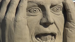 Zoom Out of sandsculpture. Stock Footage