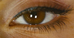 Macro Close Up Shoot on Eye blinking 4K - stock footage