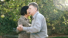 Happy Mature Couple Dancing - stock footage