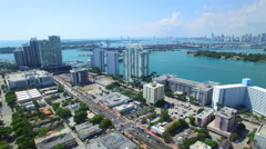 Miami Beach real estate aerial video Stock Footage