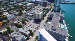 Miami Beach south of 5th street aerial video Stock Footage