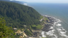 Oregon Coast from Cape Perpetua - stock footage