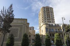 Stock Photo of View of the architecture and buildings in Baku, in Azerbaijan.