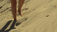 Steps in sand towards camera Stock Footage