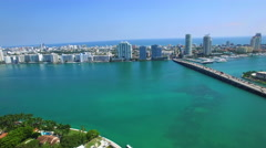 Approaching Miami Stock Footage