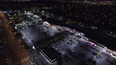 Shopping Center aerial video Stock Footage