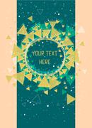 Triangles, stars and circle pattern background. Stock Illustration