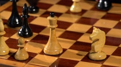 Chessboard and chess pieces. Stock Footage