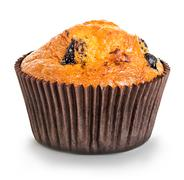 Muffin close-up isolated on a white background Stock Photos