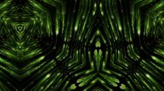 Green fancy lights Stock Footage