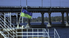 Flag at stern Stock Footage