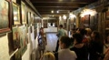 People at excursion inside Radomysl Castle, the museum of Ukrainian home icons Footage