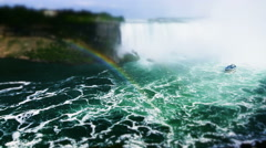 Niagara Falls View from the Canadian side in Ontario Province. Stock Footage