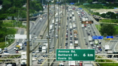 King's Highway 401 Freeway is the busiest highway in the world. Stock Footage