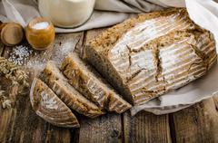 Homemade sourdough bread Stock Photos