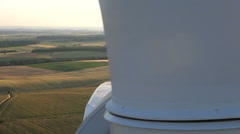 Wind turbines create renewable energy in Germany. - stock footage