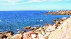 Costa paradiso rocky shore Stock Footage