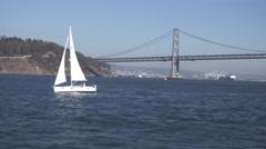 San Francisco Bay Bridge Day Establishing Shot Stock Footage