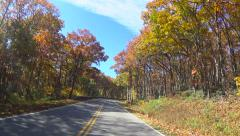 Driving in the Autumn in Virginia Stock Footage