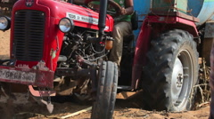 Tractor in the Desert Stock Footage