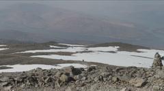 Tourists climbing Ben Nevis Scotland Stock Footage