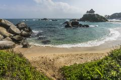 Stock Photo of Caribbean bay at Cabo San Juan in Colombia.