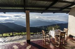 Sierra Nevada breakfast table Stock Photos