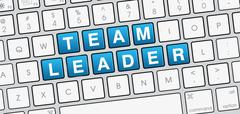 Team Leader laptop keyboard view - stock illustration