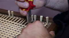 Stock Video Footage of Man building chair craftsmanship