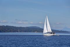 Gulf Islands Sailing, British Columbia - stock photo