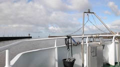 Time Lapse Going Through Locks German Wadden Sea national park Stock Footage