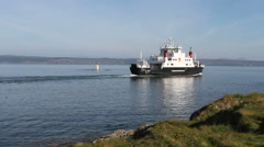 Ferry departing Mallaig Scotland Stock Footage
