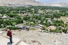 Tibet toun in the Nepal Mountan Stock Photos