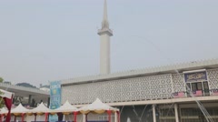 Masjid Negara with fountain,Kuala Lumpur,Malaysia Stock Footage