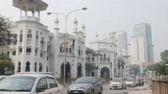 Railway station with busy traffic,Kuala Lumpur,Malaysia Stock Footage