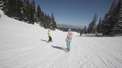 Snowboarder perform tricks Stock Footage